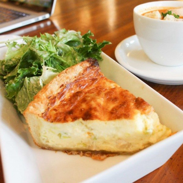 Lunch Deal: Soup & Hot Quiche
