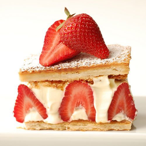 Dessert of the Week: Heart Shaped Strawberry Millefeuille OR Chocolate Royal